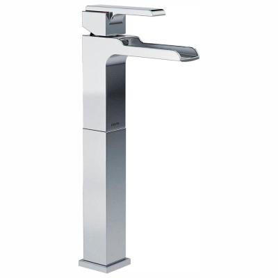 Ara Single Hole Single-Handle Vessel Bathroom Faucet with Channel Spout in Chrome