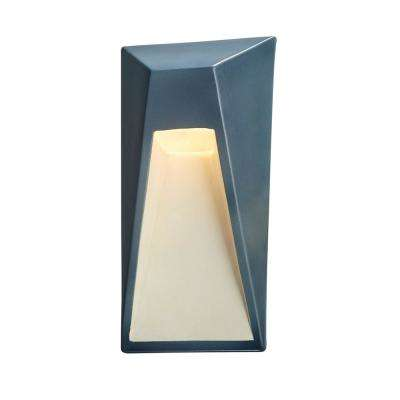 Ambiance Vertice Midnight Sky with Matte White Internal Outdoor Integrated LED Sconce