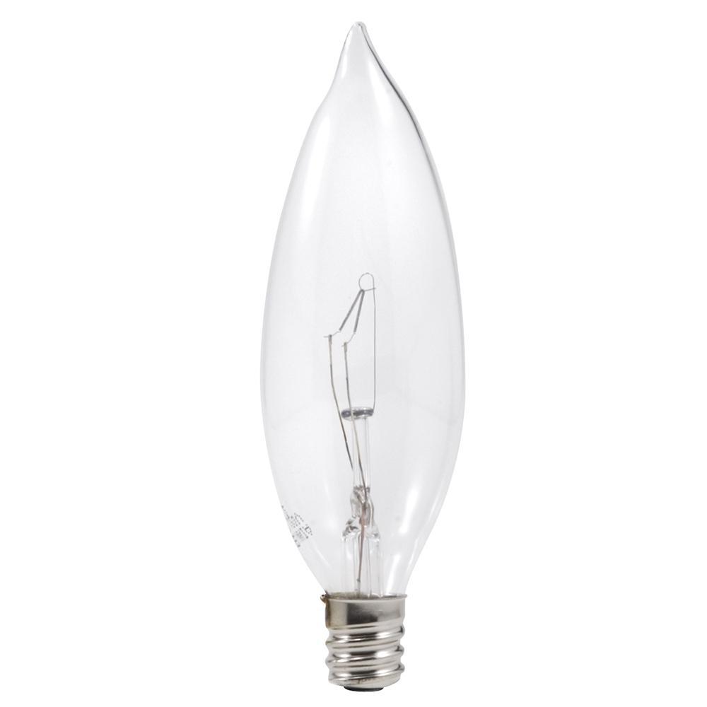 sylvania 25watt double life b10 light bulb 4pack