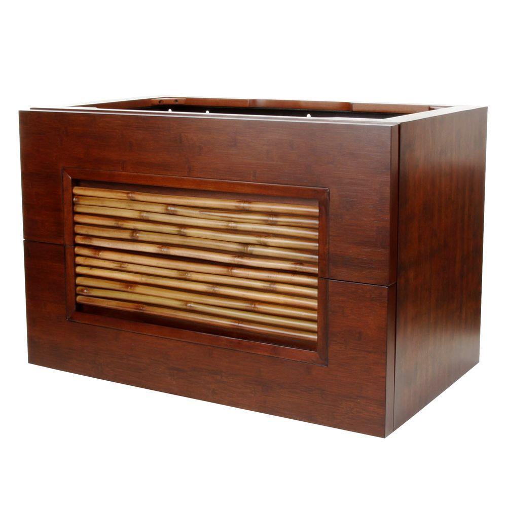 Bambu 36 in. W x 21-1/2 in. D x 24 in. H Vanity Cabinet Only in Dark Bamboo