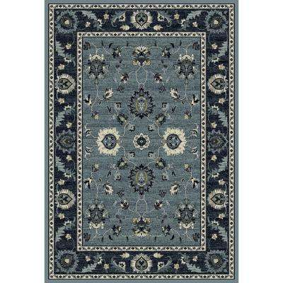 Maison Simply Open Medium Blue 2 in. x 3 ft. 3 in. Area Rug