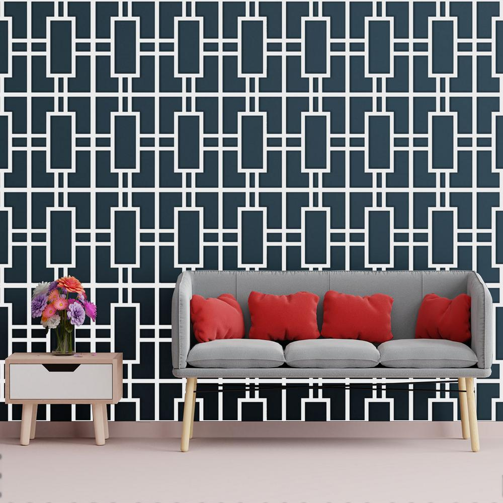 Ekena Millwork 3/8 in. x 10-1/2 in. x 15-3/4 in. Medium Hastings White Architectural Grade PVC Decorative Wall Panels