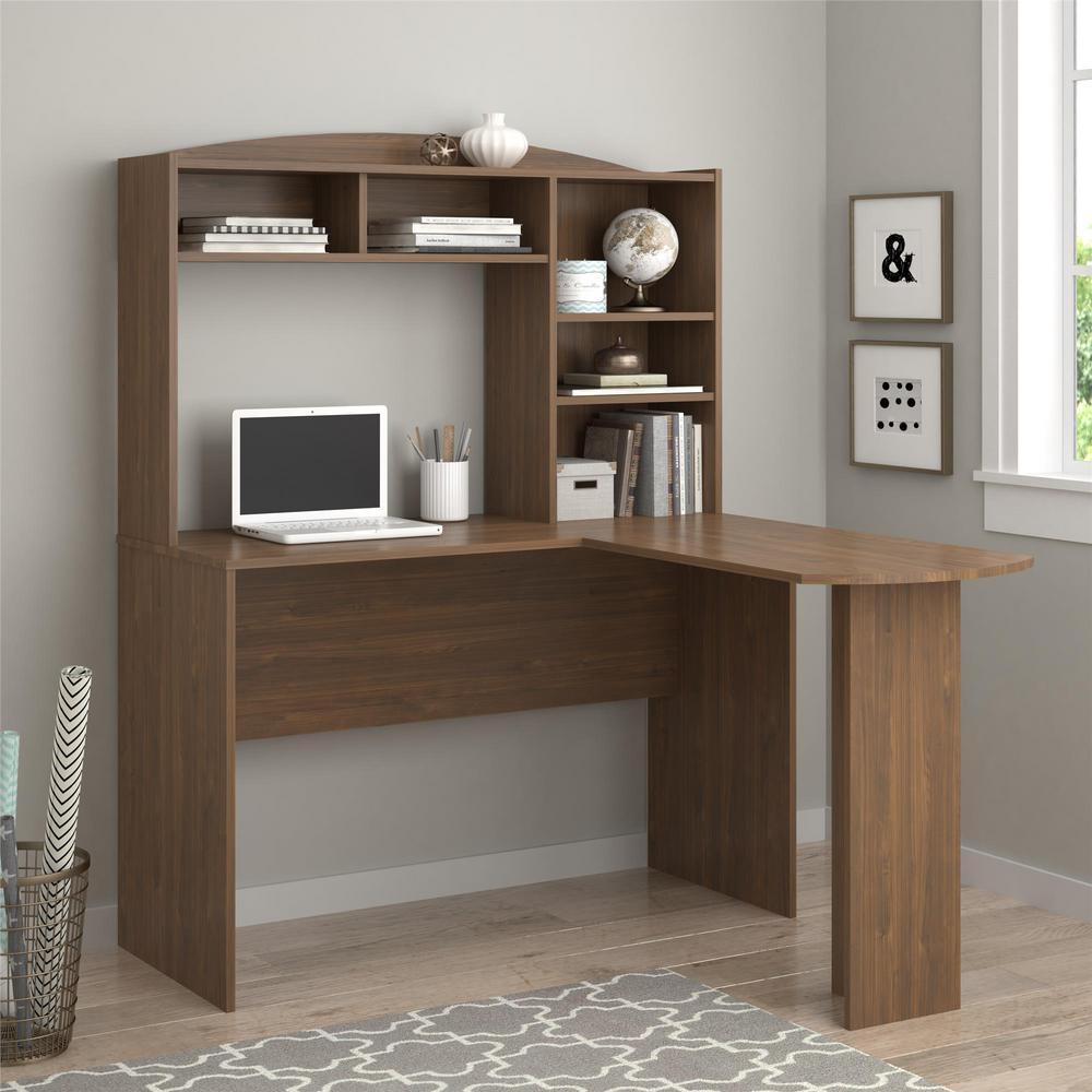 Altra Furniture Sutton Walnut Desk with Hutch by Altra Furniture