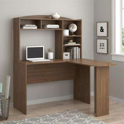 Sutton Walnut Desk with Hutch