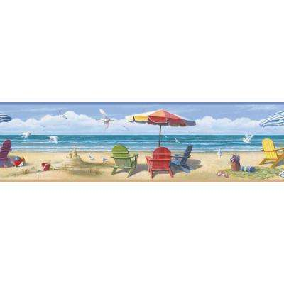 Beach Nautical Paper Border Wallpaper Decor Home Depot Lori Summer
