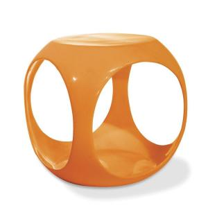 Ave Six Slick Cube Orange End Table by Ave Six