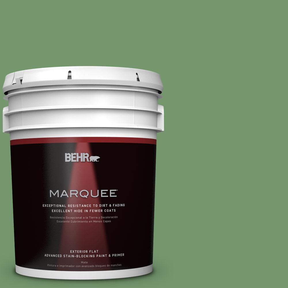 BEHR MARQUEE 5-gal. #PPU11-3 Botanical Green Flat Exterior Paint