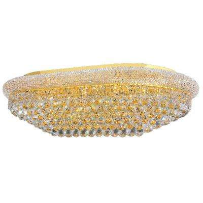 Empire Collection 24-Light Crystal and Gold Ceiling Light