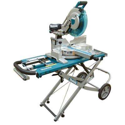 15 Amp 12 in. Dual Slide Compound Miter Saw with Laser and Stand
