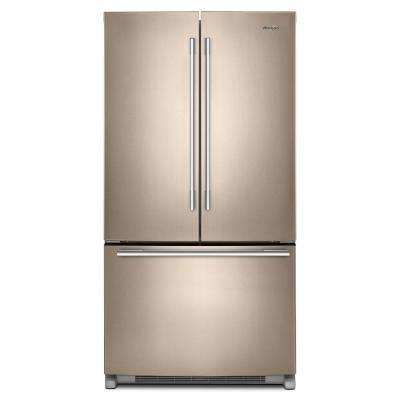 36 in. 25 cu. ft. French Door Refrigerator in Sunset Bronze