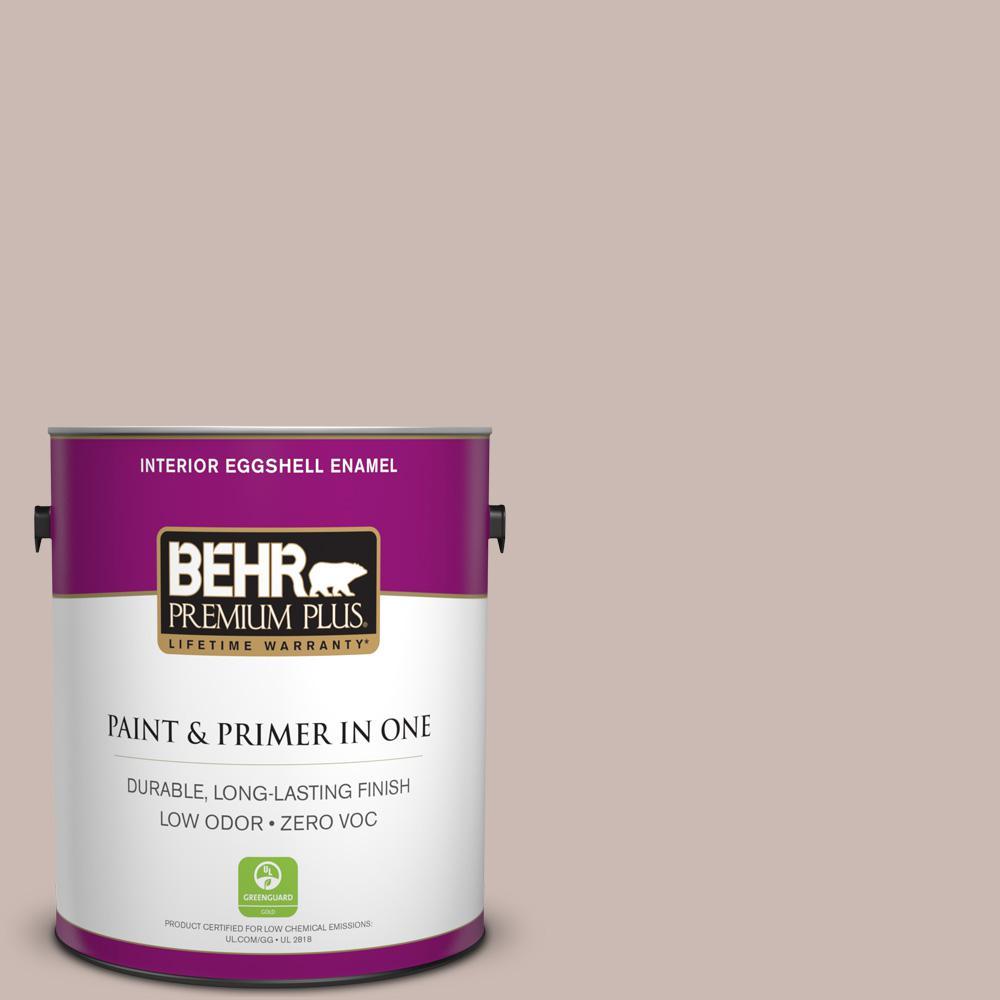 BEHR Premium Plus 1-gal. #N170-3 Gray Ashlar Eggshell Enamel Interior Paint