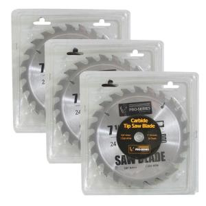 PRO-SERIES 7.25 inch Carbide Tip Saw Blade Set (3-Piece) by PRO-SERIES