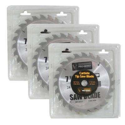 7.25 in. Carbide Tip Saw Blade Set (3-Piece)