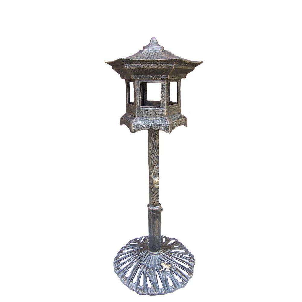 Lantern Bird House Antique Bronze