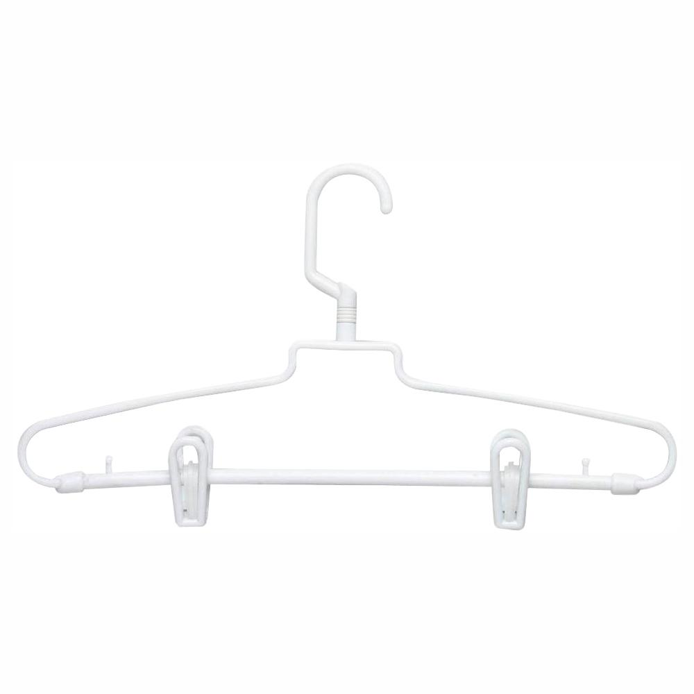 HoneyCanDo Honey-Can-Do White Hotel Style Hangers with Clips (72-Pack)