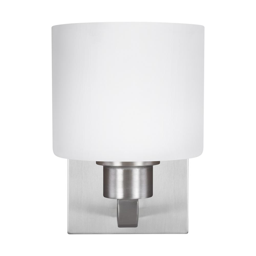 Canfield 1-Light Brushed Nickel Sconce