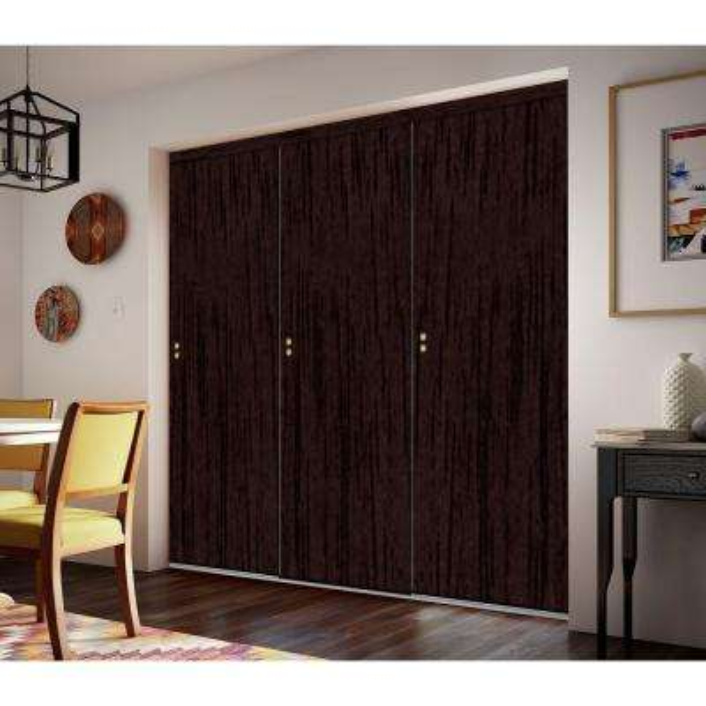 Smooth Flush Solid Core Primed MDF Interior Sliding Door With Trim
