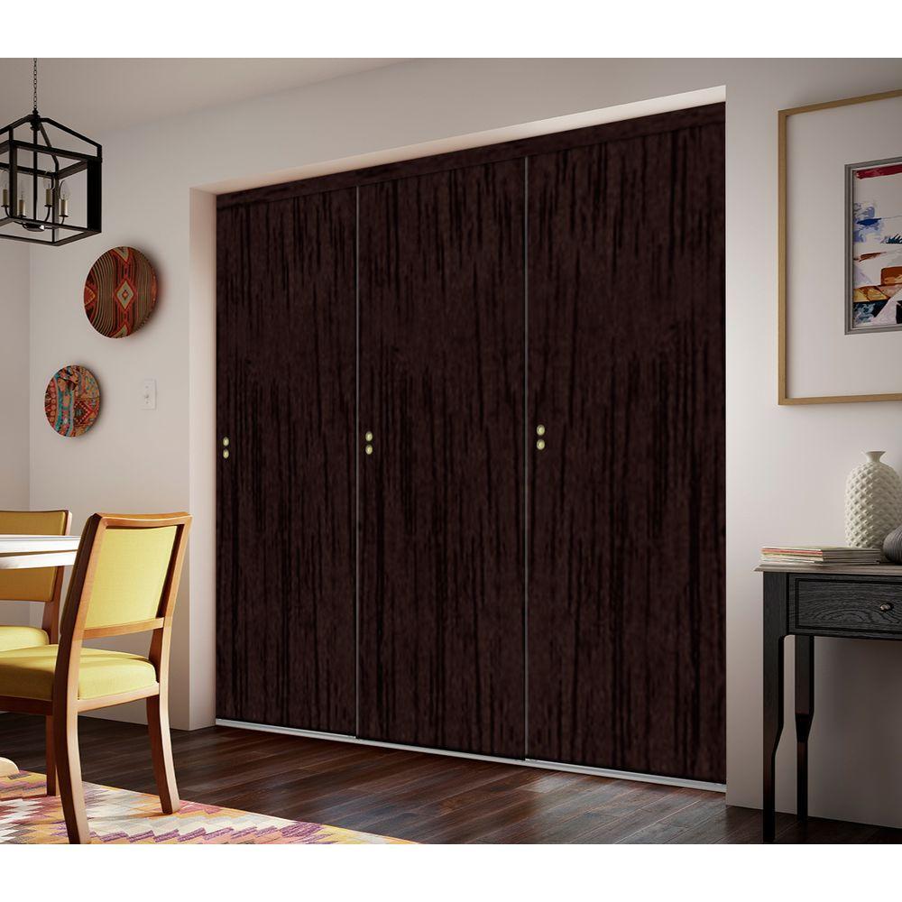 96 Espresso Finished Interior Closet Doors Doors Windows