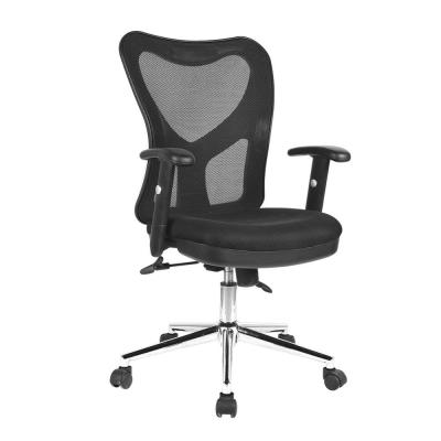Black High Back Mesh Office Chair with Chrome Base