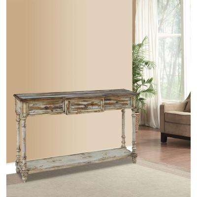Breakfront Multi-Tone Ivory Juliet Storage Console Table
