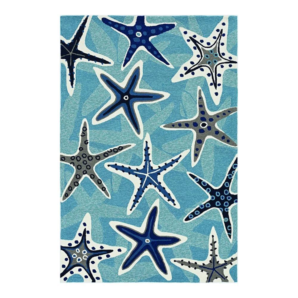 HomeRoots Bernadette Blue 2 ft. x 3 ft. Abstract Polypropylene Area Rug