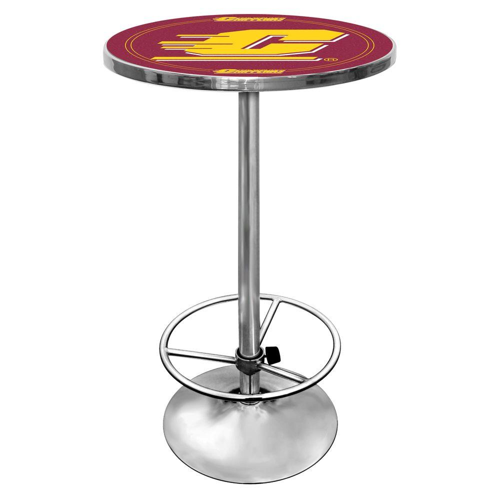 Central Michigan University Chrome Pub/Bar Table