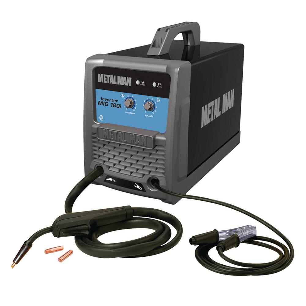 METAL MAN 180 Amp Inverter MIG And Flux Core Wire Welder-M180i - The ...
