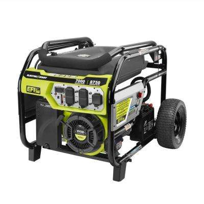 7,000 Running Watt Electronic Fuel Injected Gasoline Powered Electric Start Portable Generator with CO Shutdown Sensor