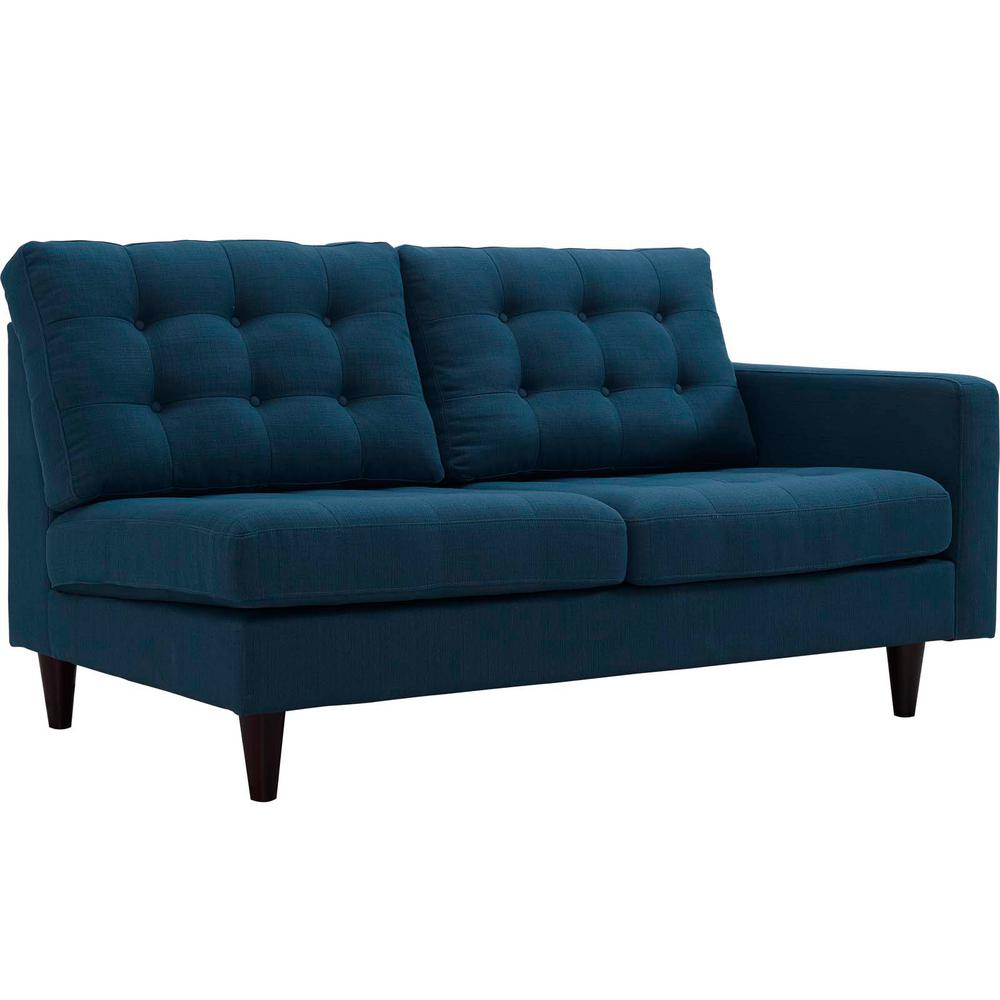 Empress Azure Right-Fac g Upholstered Fabric Loveseat