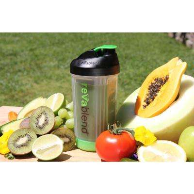BPA Free Polypropylene 16 oz. Green Hand Powered Blender Bottle