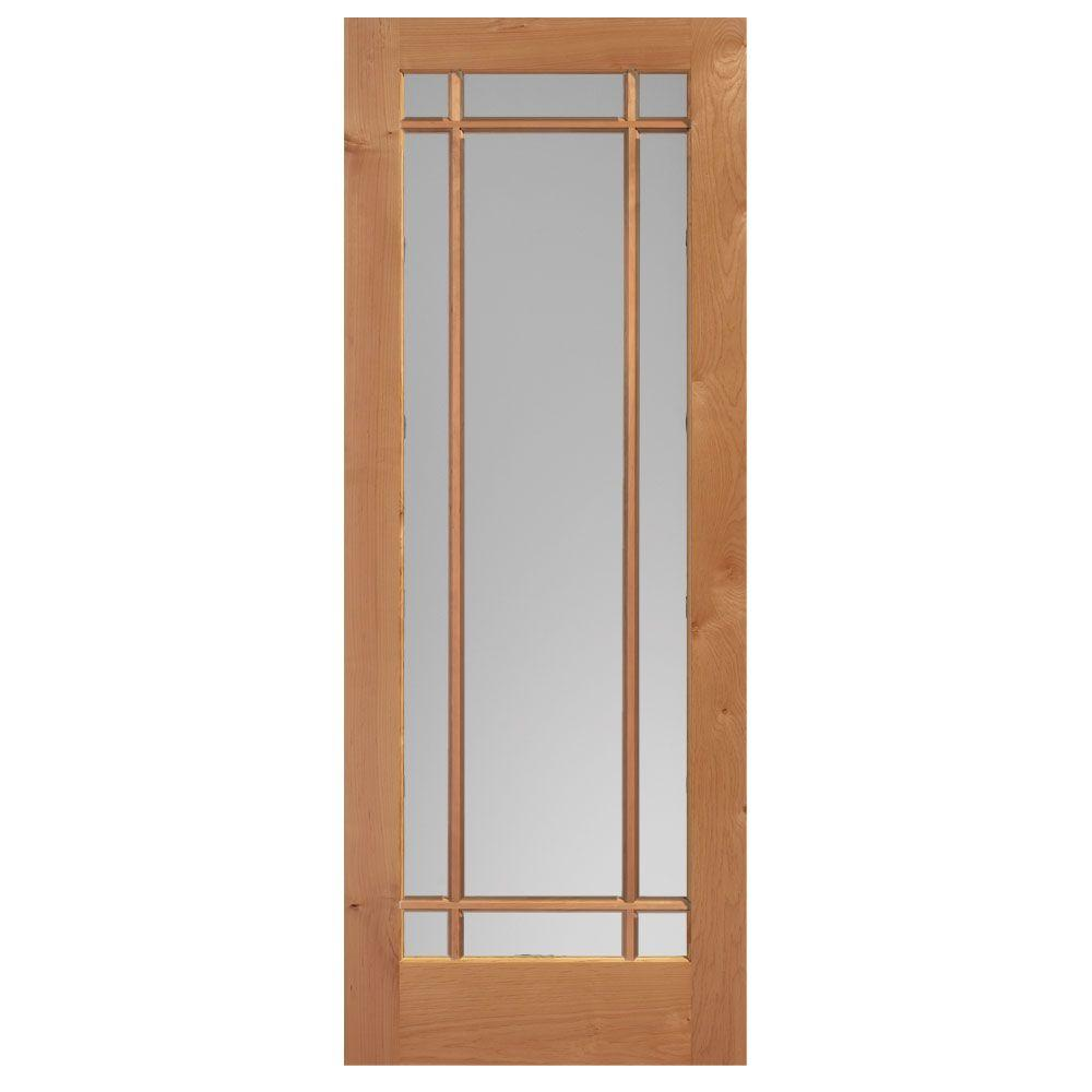 Masonite 40 In X 84 In Maple Veneer 1 Lite Solid Wood: Masonite 40 In. X 84 In. Prairie Knotty Alder Veneer 9