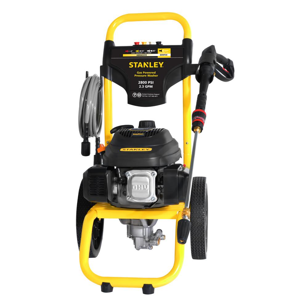 Stanley 2800 Psi 2 3 Gpm Gas Pressure Washer Powered By Stanley Sxpw2823 The Home Depot