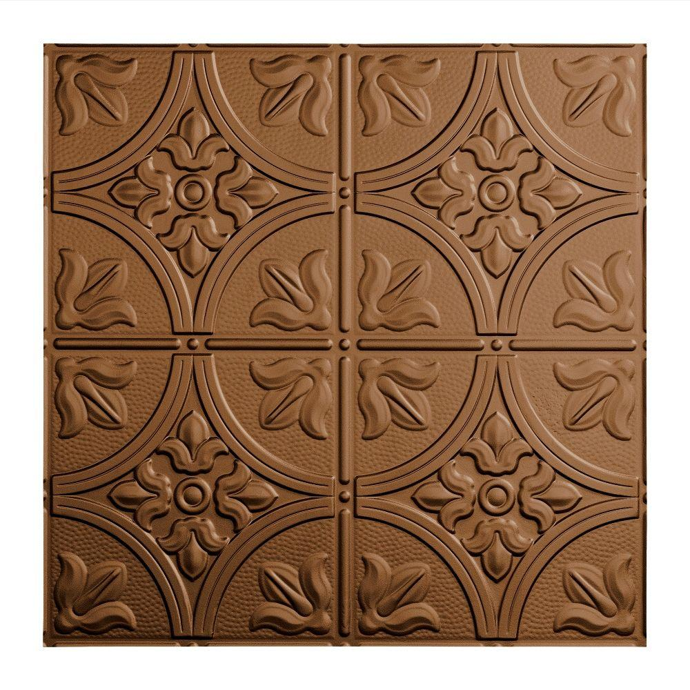 Fasade Traditional 2 - 2 ft. x 2 ft. Argent Bronze Lay-in Ceiling Tile