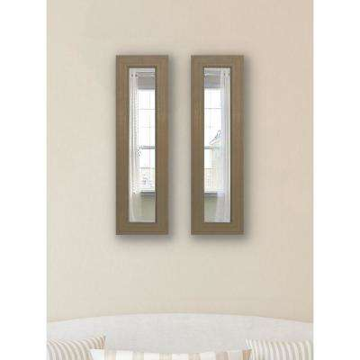 39 in. x 15 in. Champagne Colville Decorative Panel Mirror(Set of 2)