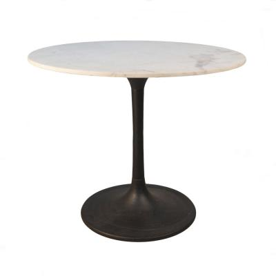 36 in. Enzo Black Round Marble Top Dining Table