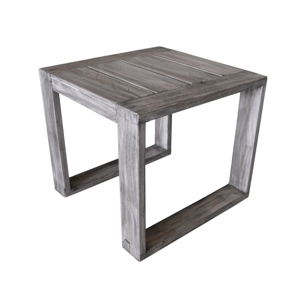 Courtyard Casual North Shore Collection Teak Outdoor Side Table