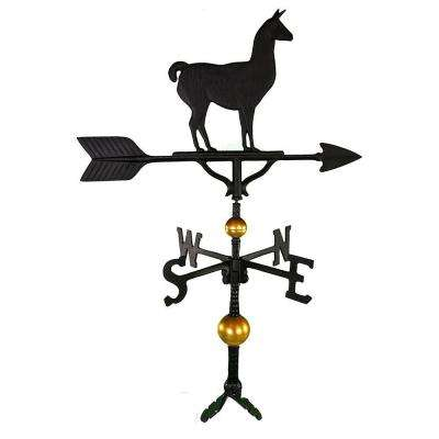 32 in. Deluxe Black Llama Weathervane