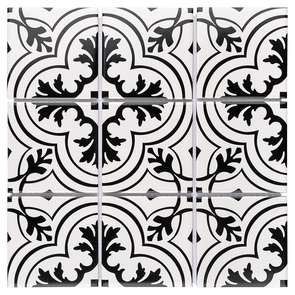 Affinity Twenties Vintage Encaustic 11-3/4 in. x 11-3/4 in. x 6mm Porcelain Mosaic Tile (9.79 sq. ft. / case)