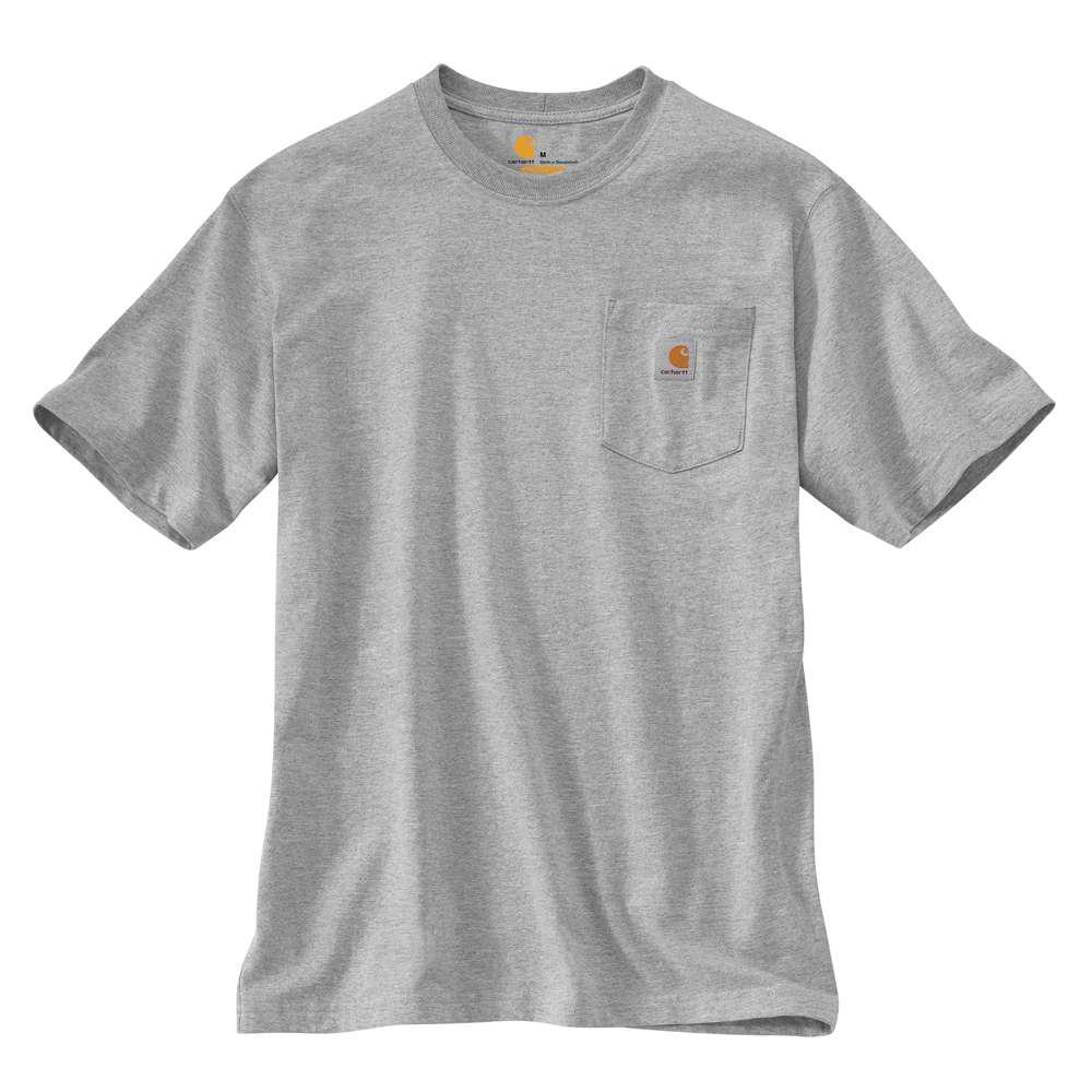 Carhartt Men's Workwear Pocket T-Shirt Heather Grey 4X - Regular
