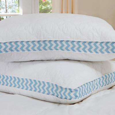 Cloud Quilted Chevron Gusset Down Alternative Jumbo Pillow