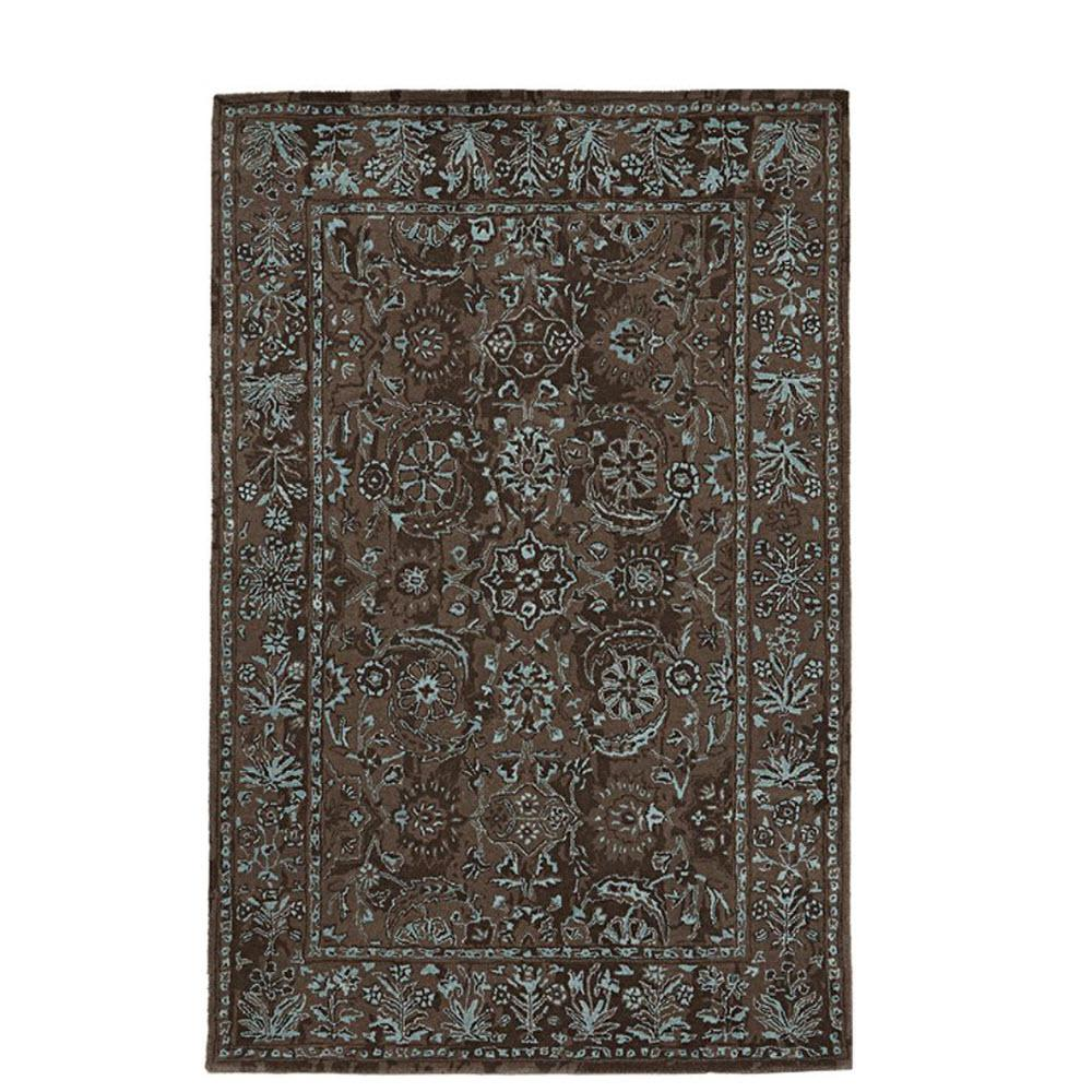 Landes Taupe/Blue (Brown/Blue) 3 ft. 6 in. x 5 ft. 6 in. Area Rug