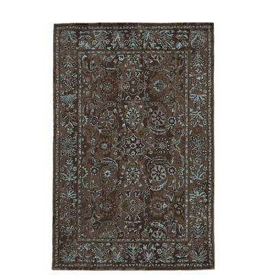 Landes Taupe/Blue 8 ft. x 11 ft. Area Rug