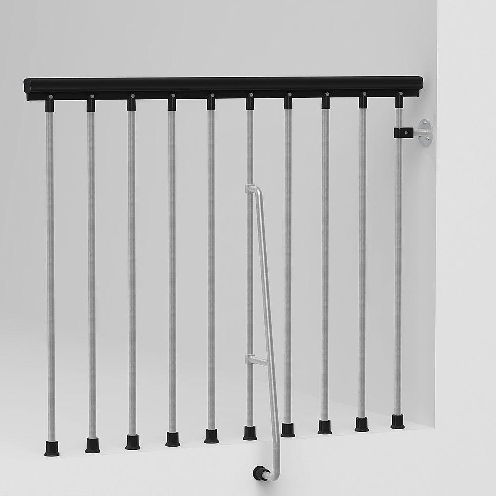 47 in. Galvanized Balcony Rail Kit