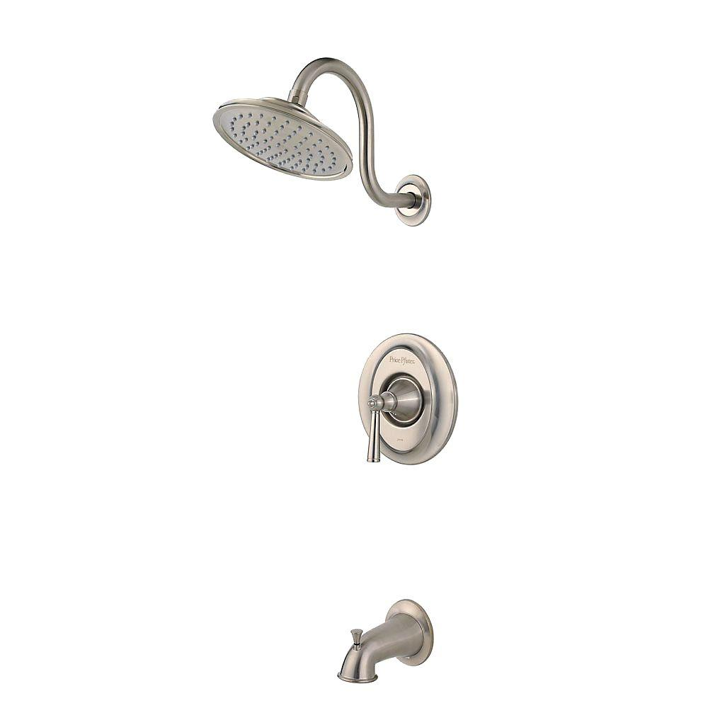 Pfister Saxton 1-Handle Tub and Shower Faucet Trim Kit in Brushed Nickel (Valve Not Included)