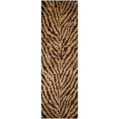 Bohemian Natural/Black 3 ft. x 8 ft. Runner Rug