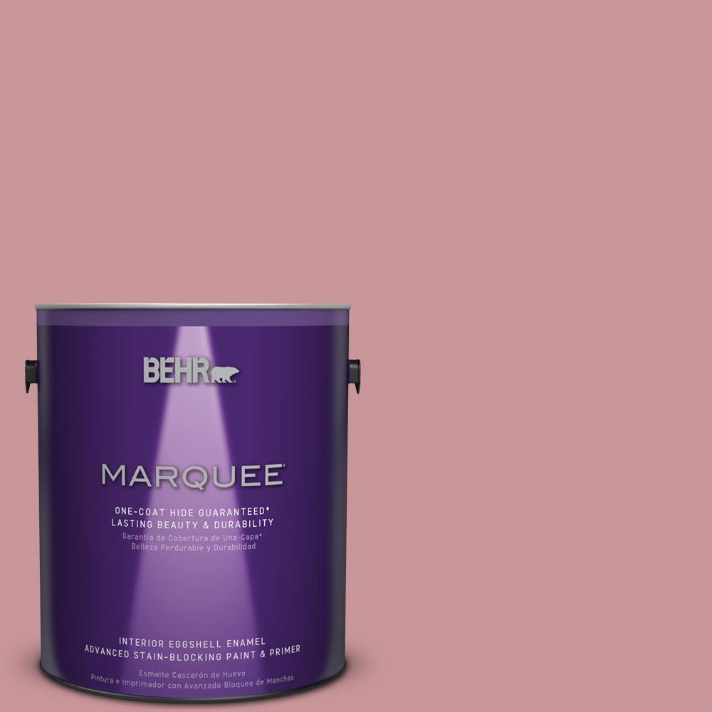 1 gal. #S140-4 Minstrel Rose One-Coat Hide Eggshell Enamel Interior Paint