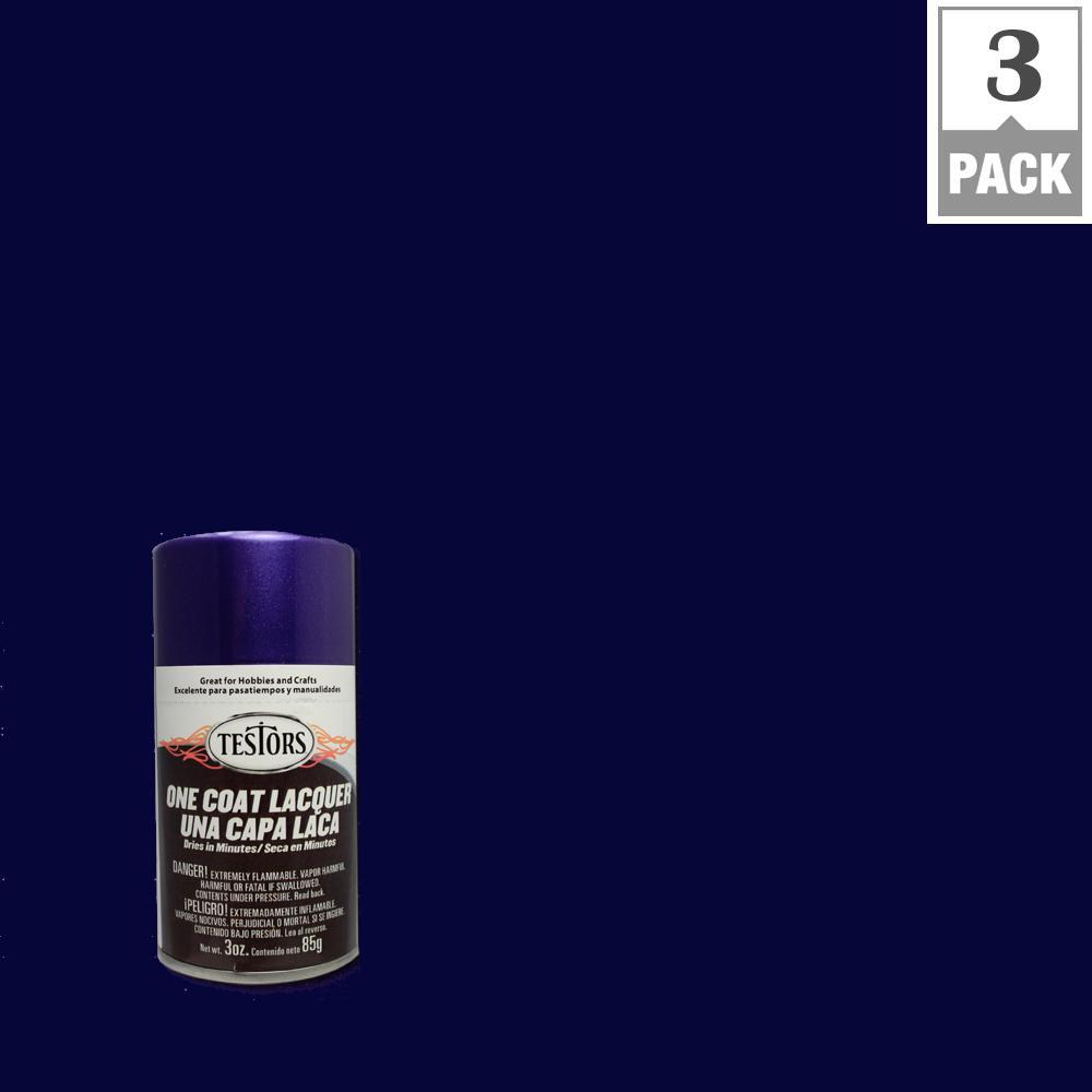 Testors 3 oz. Purple Licious Lacquer Spray Paint (3-Pack)
