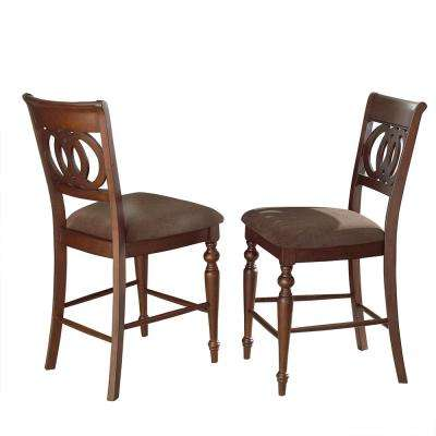 Dolly 43 in. Brown Counter Chair (Set of 2)