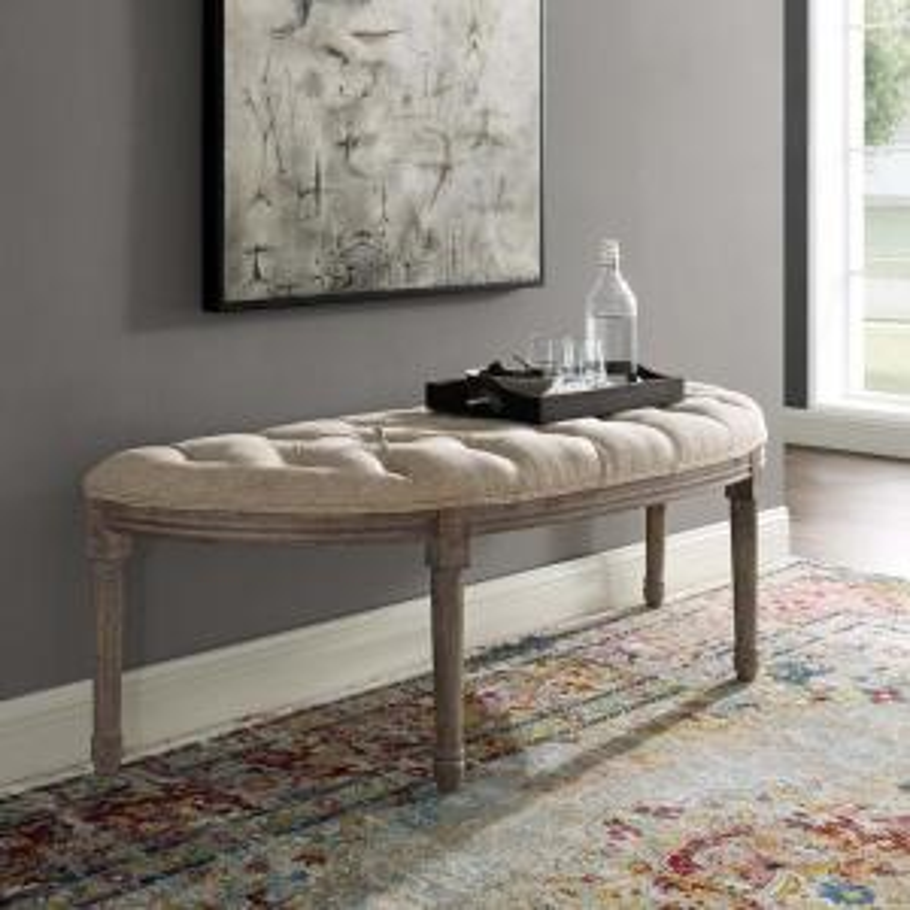 Enjoyable Modway Esteem Vintage French Upholstered Fabric Semi Circle Machost Co Dining Chair Design Ideas Machostcouk