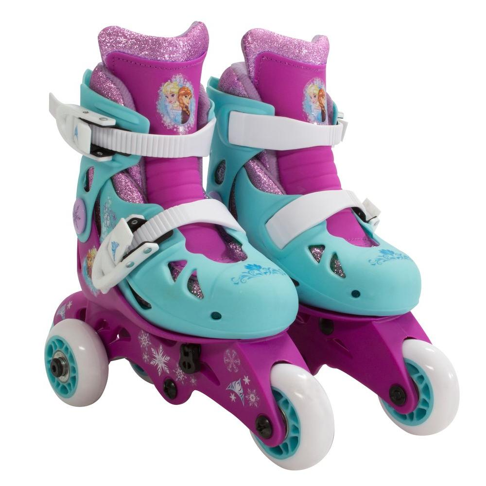 Disney Frozen Glitter Convertible 2-in-1 Kids Junior Size 6-9 Skates